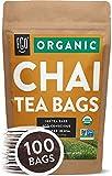 Organic Chai Tea Bags   100 Tea Bags   Blend of Chinese Keemun Tea, Indian Assam Tea, Cinnamon, Cardamom, Cloves, Ginger, Black Pepper   Eco-Conscious Tea Bags in Kraft Bag   Blended in USA   by FGO