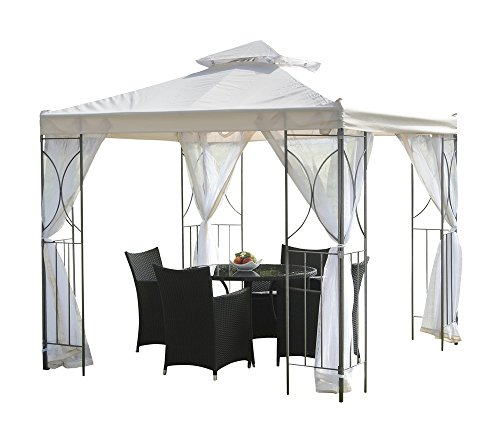 "Suntime PG01178 2.5 m""Polenza"" Cream Gazebo - Off White"