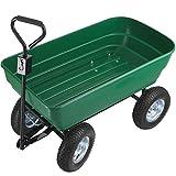 tectake 403577 Carrito de mano 125 litros, Volquete para trabajos de jardinería, Carretilla basculante de transporte, Vagoneta para jardín