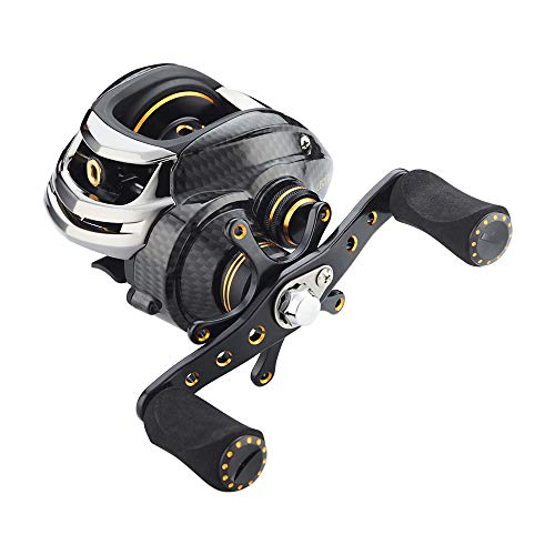 Fishdrops Baitcasting Reels Double Brake Systems Baitcaster Reel High Speed Gear Ratio 7.0 Ultra Smooth Low Profile Fishing Reel
