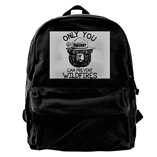 XCNGG Smokey Bear Girls Boys Backpacks Canvas Book Bags