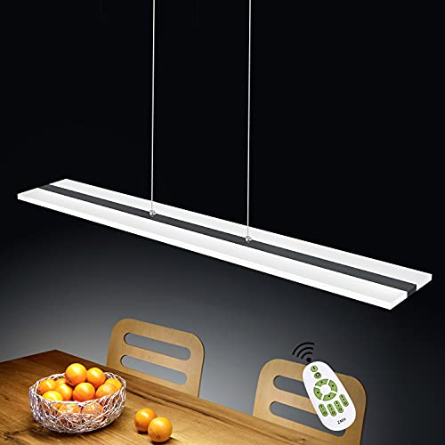ZMH LED Pendelleuchte Büro 38W Dimmbar mit Fernbedienung Pendellampe esstisch höhenverstellbar Hängeleuchte aus Acryl Panelleuchte für Hängelampe esstisch Arbeitszimmer, Wohnzimmer