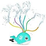 joylink Juguete de Rociador, Juguete de Agua de Rociadores de Ballenas Juguete de Spray de Agua para niños, Juguetes para rociar Agua para niños, niñas, jardín, Exterior, Piscina (Azul Brillante)