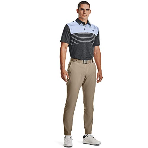 Under Armour Men's Playoff 2.0 Golf Polo , Black (026)/Mineral Blue , Small