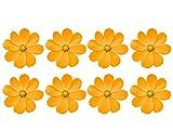 Oedim Pack 8 Pegatinas Flores Naranjas | 11 x 11 cm Vinilos Autoadhesivos Decorativos