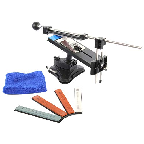 Weytoll Knife Sharpener Professional with 4 Sharpening Stones, Fixed-Angle Knife Sharpener Professional Kitchen Knife Sharpener Kits System