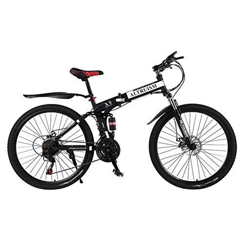 MZLJL Berg Fahrrad, X9 der Frauen Männer Mountainbike 21-Gang-Getriebe Stahl 26 Zoll Doppelscheibenbremsen verschieben Fahrräder Renn einen.Kreislauf.durchmachenreiten, schwarz, China