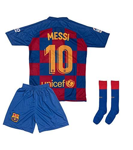 ATB Barcelona 2019/2020#10 Messi Heim Kinder Fußball Trikot und Shorts mit Socken Kinder und Jugend Größe