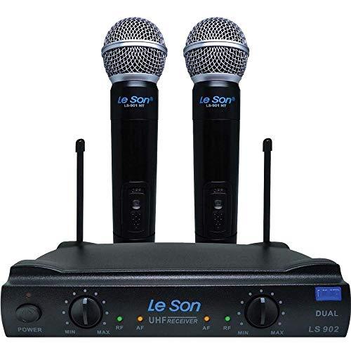 MICROFONE S/FIO DE MAO UHF LS-902 HT/HT