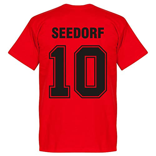 AC Mailand Seedorf 10 Team T-Shirt - rot - XS