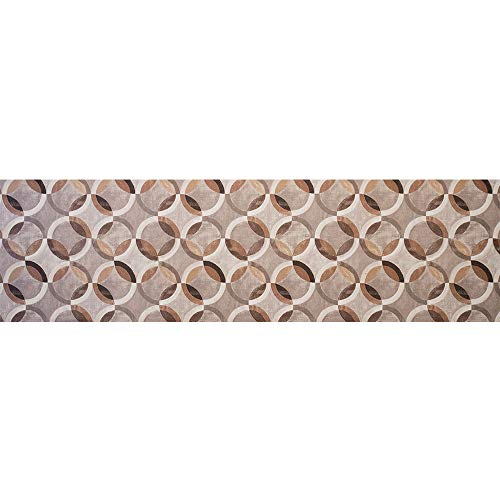 IlGruppone Tappeto passatoia Made in Italy Antiscivolo Lavabile Fantasia Cerchi di Sabbia - Cerchi Sabbia - 50x300