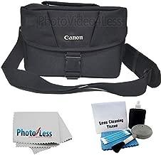 Canon Genuine Padded Starter Digital SLR Camera Lens Case Gadget EOS Shoulder Bag For T3 T3i T4i T5 T5i SL1 70D 60D 50D 7D 6D + Photo4less Cleaning Cloth and Camera & Lens 5 Piece Cleaning Kit