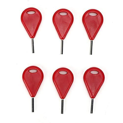 6 Unids/Pack Tabla de Surf Aleta Hexagonal Llave de Aleta de Surf Accesorios de la Tabla de Surf Llaves de Aleta Equipo de Surf(Rojo)