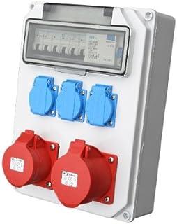 Wandverteiler CEE  1x16A  1x32A  3x230V FI Baustromverteiler Steckdosenverteiler Komplett AWVT2