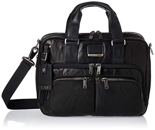 Tumi Alpha Bravo Albany Slim Commuter Leather Brief 14' Briefcase, 37 cm, Black (Black Leather)