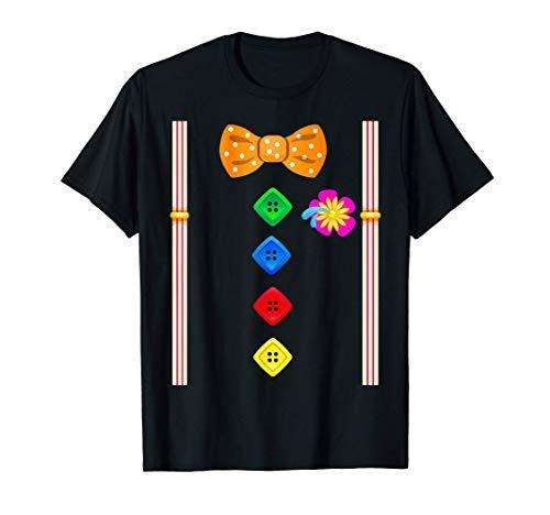 El payaso divertido con corbata de lazo Camiseta