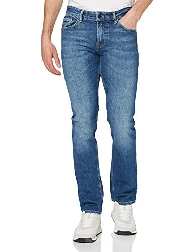 BOSS Herren Delaware BC-C Slim-Fit Jeans aus Stretch-Denim in Used-Optik