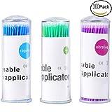 300 micro applicatori tamponi di pennelli, monouso ciglia estensione per ciglia estensioni...