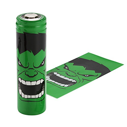 Pre-Cut 20700 Battery Wraps Cover 100 Packs Protective Sleeve Heat Shrink Wraps (Hulk)