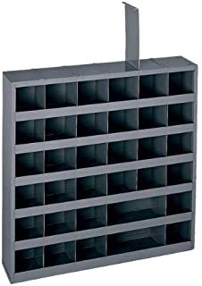 Durham 314-95 Gray Cold Rolled Steel 36 Opening Adjustable Parts Bin, 23-3/4