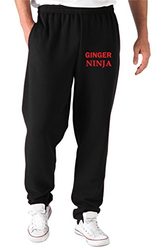Jogginghose Schwarz TR0053 Ginger Ninja 25mm 1 Pin Badge Button Humour Joke Fun Hair