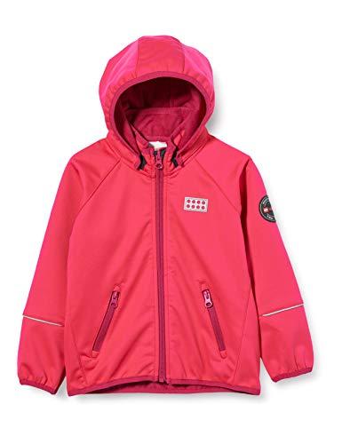 Lego Wear Mädchen Lwsam Softshelljacke Jacke, Rot (Coral Red 330), (Herstellergröße:80)