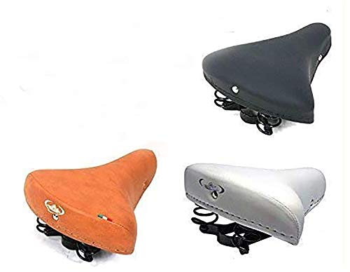 MONTEGRAPPA Sella con Molle Ideale per Bicicletta Graziella - Epoca - R - Olanda (Marrone)