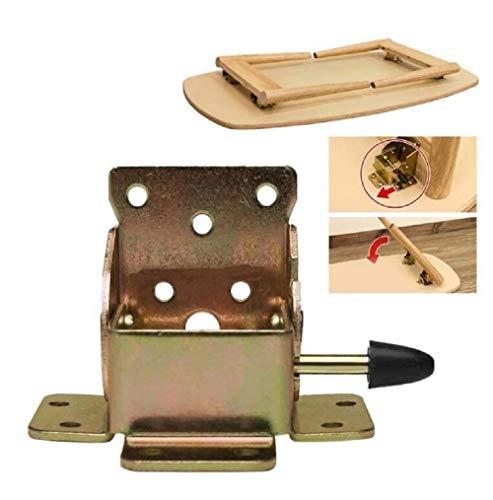 (2 piezas)90 grados autobloqueante plegable mesa pierna extensión estante soporte plegable telescópico oculto escritorio cama pierna bisagra