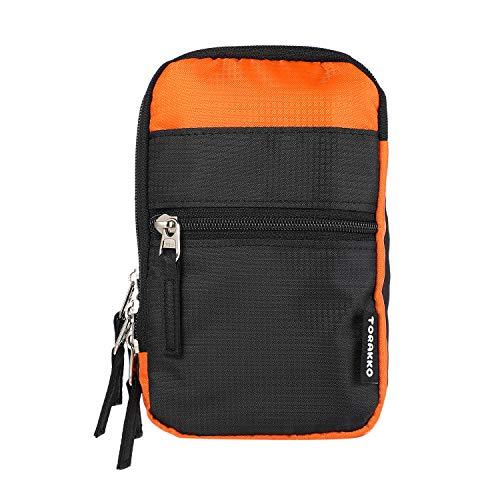 【生地背面撥水加工】ベルトポーチ スマホポーチ スマホ ケース ベルトポーチ スマホケース メンズ ポーチ 携帯ケース ショルダー の バッグ 鞄 ショルダーベルト (NLブラックオレンジ)