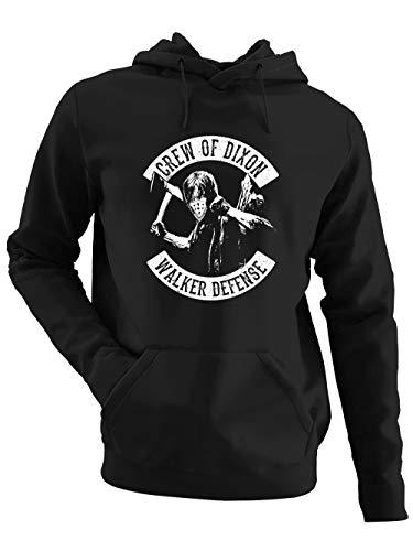 clothinx Crew of Dixon | Dixon Design in Biker Optik | Comic Fanartikel Für Serien- und Zombie-Fans - Verkürz Dir Die Zeit Zur Neuen Staffel Herren Kapuzen-Pullover Schwarz Gr. XXL