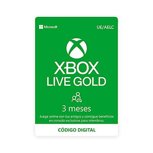 Microsoft Suscripción Xbox Live Gold - 3 Meses | Xbox Live - Código de descarga