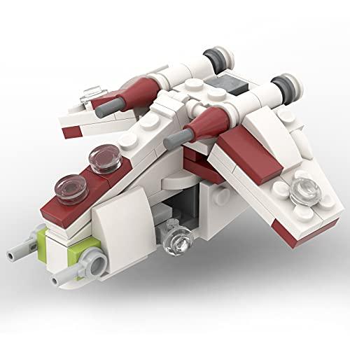 Elroy369Lion Mikro Republic Gunship Spaceship Modello mattone compatibile con Lego Star Wars, MOC fai da te Sci-Fi Stars Space Wars Collection MOC-42164 (100 pezzi)