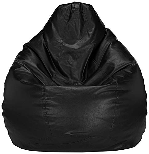 Bird's Nest Bean Black XXXL Bag Cover Gamer Recliner Beanbag Garden Seat Chair Cover for Outdoor and Indoor Water and Weather Resistant (Filling Not Included)