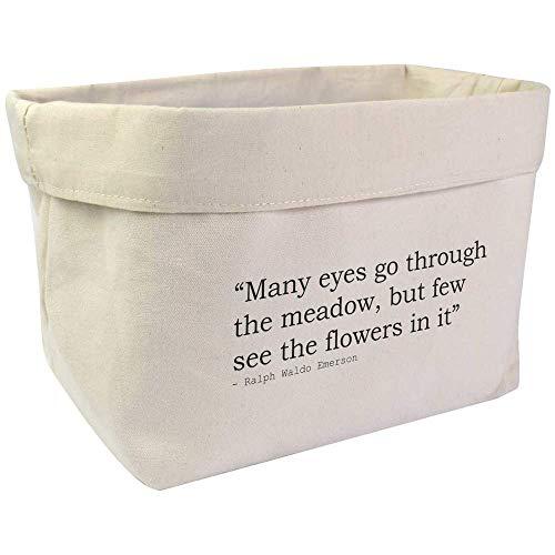 Azeeda Large Nature Quote By Ralph Waldo Emerson Canvas Organiser / Storage Bag (OR00004807)