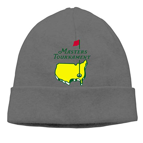 YAMIKE Masters-Tournament#Augusta Na-Tional Golf Logo Unisex Thin Winter Warm No-Brimmed Knitted Hat Skull Cap Deep Heather