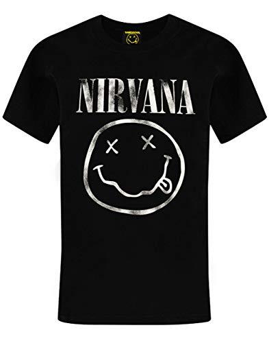 Nirvana Negro T-Top de la Camisa del niño Smiley Logo Boy