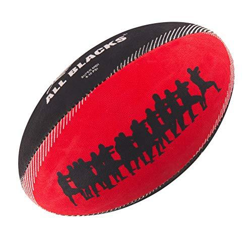 GILBERT Ballon de rugby SUPPORTER - All Blacks - Taille Midi