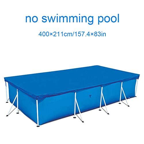 SQER Rechteckige Pool-Abdeckung, Gestell aus Polyester mit festem Seil, wasserdicht, staubdicht, für die meisten Arten von Schwimmbädern, nicht null, 400 x 211 cm., 400 x 211cm