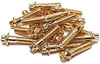 SRR Hardware Gold Three Piece Split Rim Assembly Bolts M8 x 32mm 10.9 HT Steel for HRE DPE IFORGED ROTIFORM WORK Steel Screws (170)