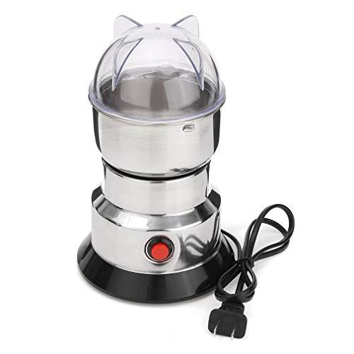 ASFD Molinillo eléctrico de Hierbas/Especias/nueces/café en Grano con Cuchillas de Acero Inoxidable, máquina de molienda para el hogar, Herramienta (Plateada y Negra)