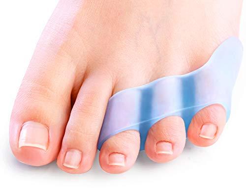 Sumifun Gel Zehenspreizer, [10x] Gel Kleine Zehenschutz für überlappende Zehen, gekräuselte kleine Zehen, kleine Zehenabscheider zur Linderung von Reibungsschmerzen, Blasen,Bunion