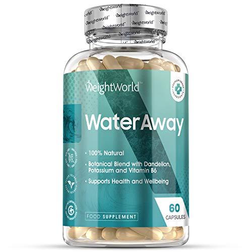 Premium Water Away Entwässerungstabletten - Wassertabletten für Frauen und Männer - Natürlich zur Entwässerung des Körpers - Laborgeprüft in Deutschland - 60 Kapseln Vegan