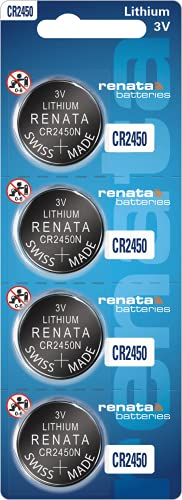 Renata Batteries CR2450N 3 Volt Lithium Coin Battery (4 Pack)