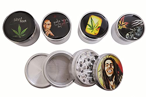 Green Apple Inc 52 MM Bob Marley Series 2 Limited Edition Round Weed Crusher Grinder (Pack of 1)