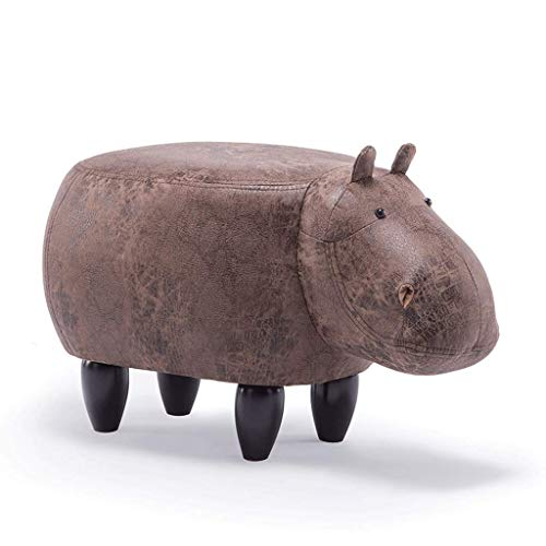 DaPengNB Kreative Karikatur Brown Hippo Schuhe Bank Sofa Bench Wohnzimmer Cartoon Massivholz-Hocker Test-Schuhe Hocker