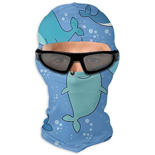 NB Outdoor-Sonnenschutz-Handtuch, Narwal-Muster, Kapuze, Sonnenschutz, doppellagig, kalt für Männer und Frauen