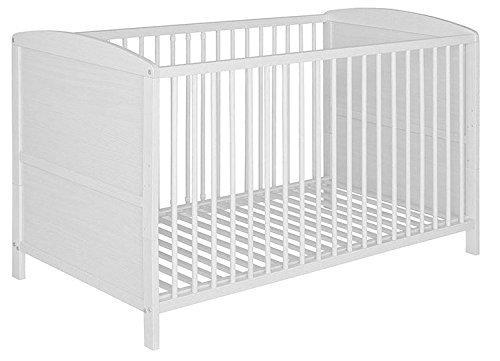 Best For Kids Gitterbett 2 in 1 Patrick 70x140 cm Juniorbett Kinderbett Babybett in zwei Farben (Weiß-1A)