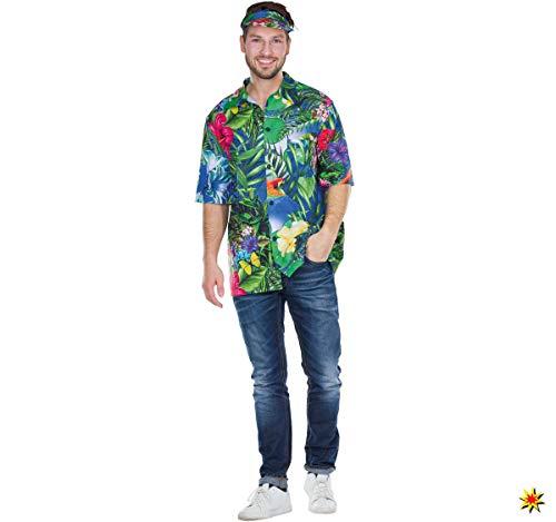 Herren Kostüm Hawaii Hemd bunt Tropen Karibik-Hemd Hawaiihemd Fasching Mottoparty (50)