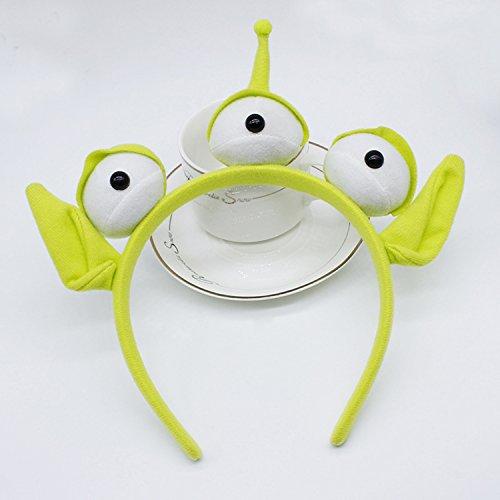 Haarreifen mit grünem Monster von ZMvise Plüsch Kostüm Kopfschmuck