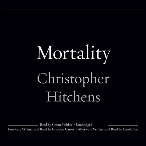 Mortality audiobook cover art